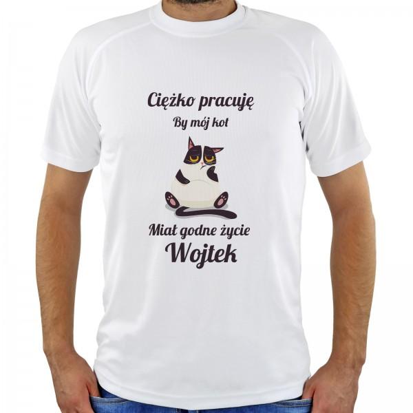koszulka z nadrukiem na prezent dla miłośnika kotów
