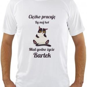 koszulka z nadrukiem  personalizacji na prezent dla przyjaciela miłośnika kotów