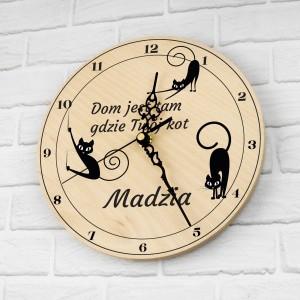 zegar z nadrukiem na prezent dla miłośniczki kotów