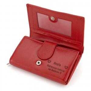 portfel czerwony cavaldi z grawerem